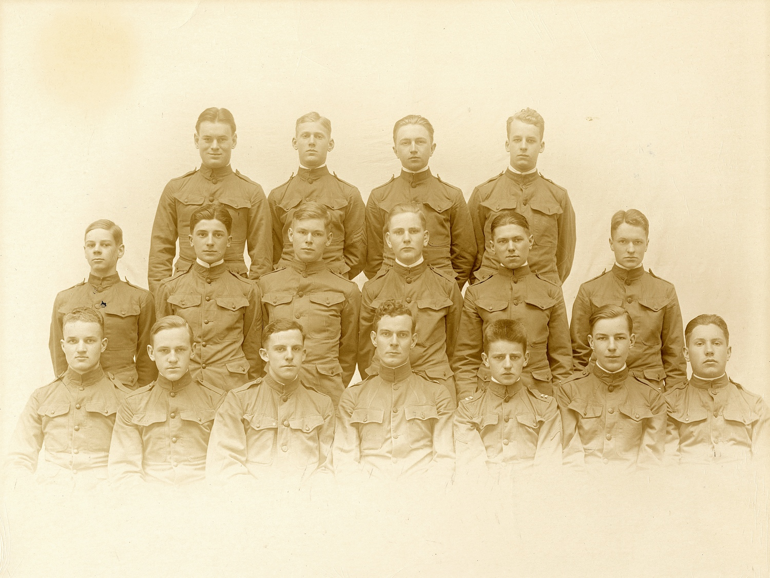 Officers of the Boys Battalion 1917